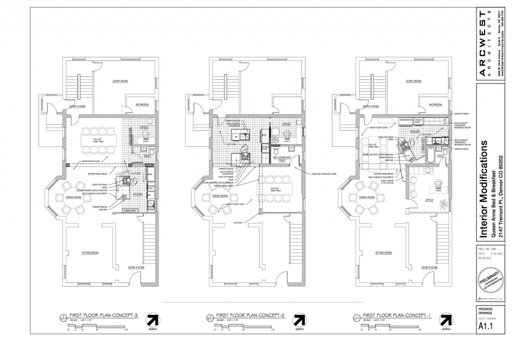 Commercial kitchen design queen anne bed breakfast Commercial kitchen layout plan