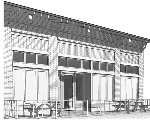 Brik Restaurant ArcWest Architects elevation