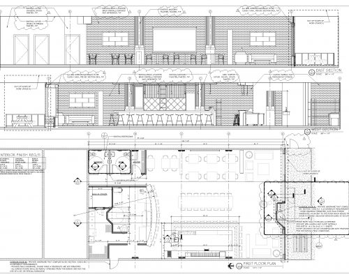 Brik Restaurant ArcWest Architects architectural plan1