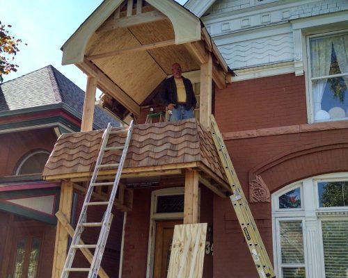Historic Porch addition N Bryant