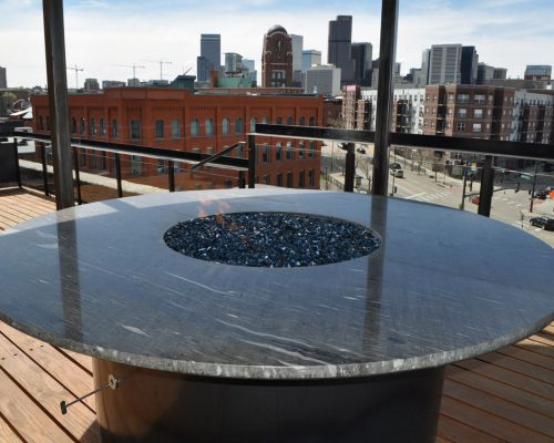 ArcWest Architects Ballpark Rooftop Deck After Firepit View2 Denver ...