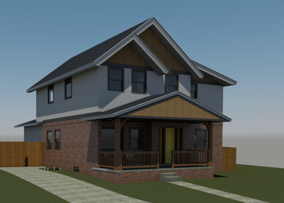 ArcWest Architects Residential Addition Pontiac - rendering